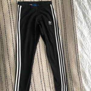 Adidas track leggings with striped down leg XS